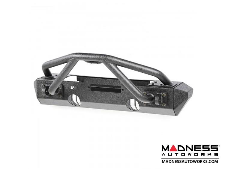 Jeep Wrangler JK XHD Bumper w/Stubby Ends & w/Double X Striker Bar - Front