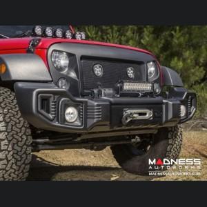Jeep Wrangler JL Spartacus Front Bumper - Satin & Stamped Steel