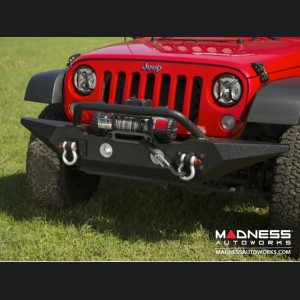 Jeep Wrangler JK Spartan Bumper & Standard Ends w/ Overrider - Front