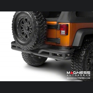 Jeep Wrangler JK Double Tube Bumper - Rear - Black