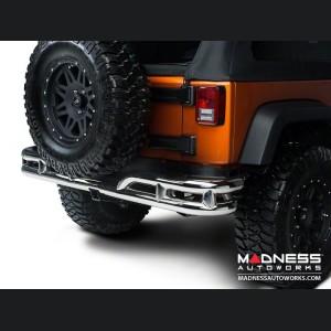 Jeep Wrangler JK Double Tube Bumper - Rear - Stainless Steel