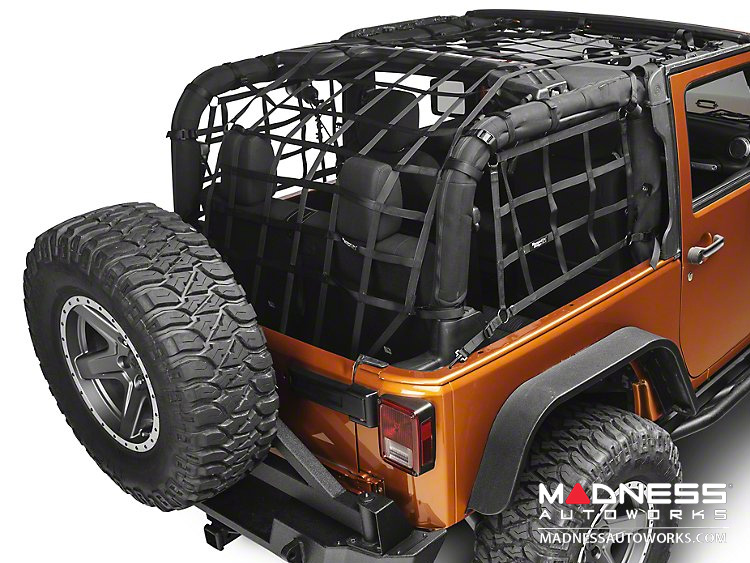 Jeep Wrangler JK Cargo Net - 2 Door - Black