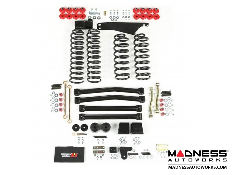 "Jeep Wrangler JK Suspension Lift Kit - 4"" - No Shocks"