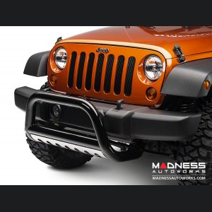 "Jeep Wrangler JK Bull Bar - 3"" Black with Stainless Steel"