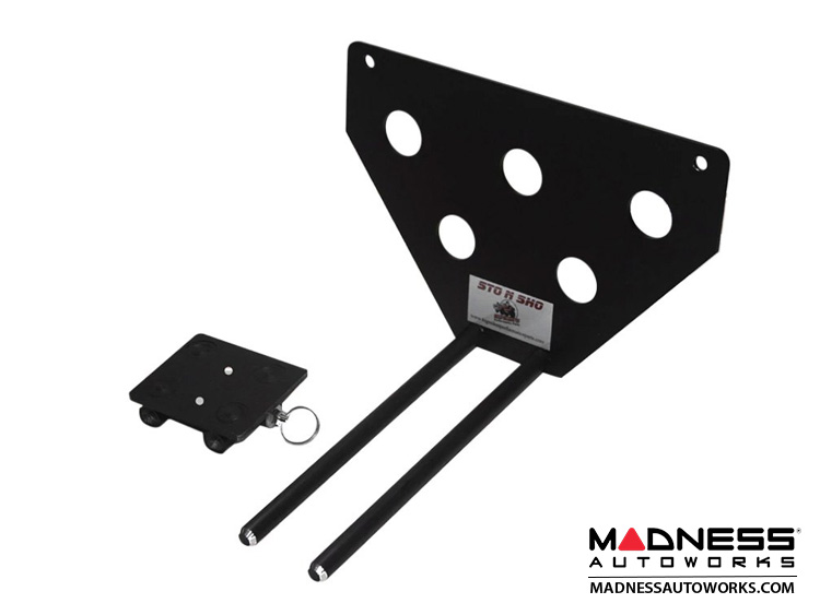 Jeep Wrangler JL Quick-Release Front License Plate Bracket for Plastic Bumper