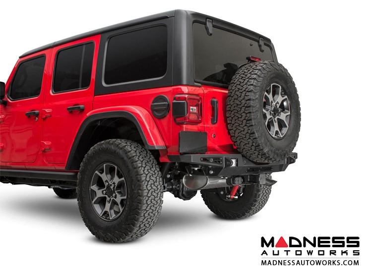 Jeep Wrangler JL Rear Bumper w/ Backup Sensors - Stealth Fighter