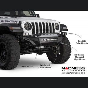Jeep Wrangler JL Top Hood Front Bumper - Stealth Fighter