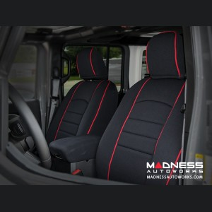 Jeep Wrangler JL Seat Covers - Front + Rear Seats - Custom Neoprene Design