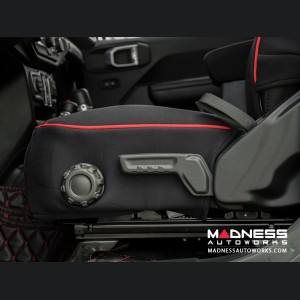 Jeep Wrangler JL Seat Covers - Front + Rear Seats - Custom Neoprene Design