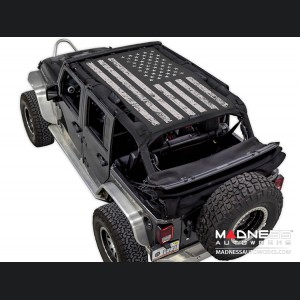 Jeep Wrangler JK SW1 Top Trailmesh - Tactical Flag Distressed - 4 Door