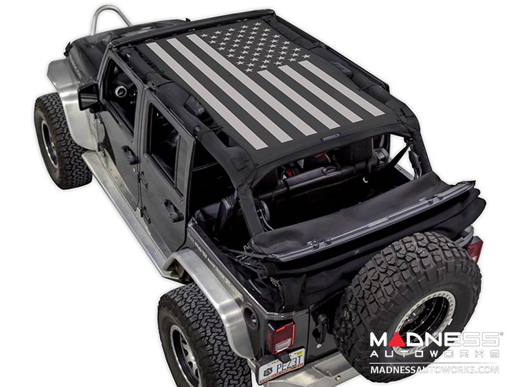 Jeep Wrangler JK SW1 Top Trailmesh - Tactical Flag Solid - 4 Door