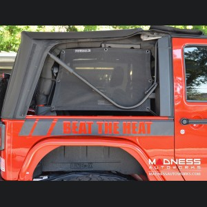 Jeep Wrangler JK Top Trailmesh Spider Sides - 2 Door
