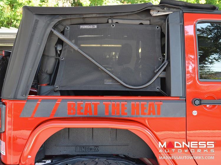 Jeep Wrangler JK Top Trailmesh Spider Sides - 2 Door