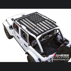 Jeep Wrangler JL Top Trailmesh - 4Door - Tactical Flag Distressed