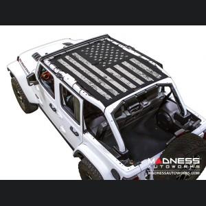 Jeep Wrangler JL Top Trailmesh - 4Door - Tactical Flag Distressed