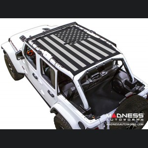 Jeep Wrangler JL Top Trailmesh - 4Door - Tactical Flag Solid