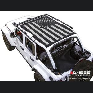 Jeep Wrangler JL Top Trailmesh - 4Door - Tactical Flag Solid