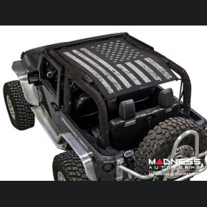 Jeep Wrangler JK SW1 Top Trailmesh - Tactical Flag Distressed - 2 Door