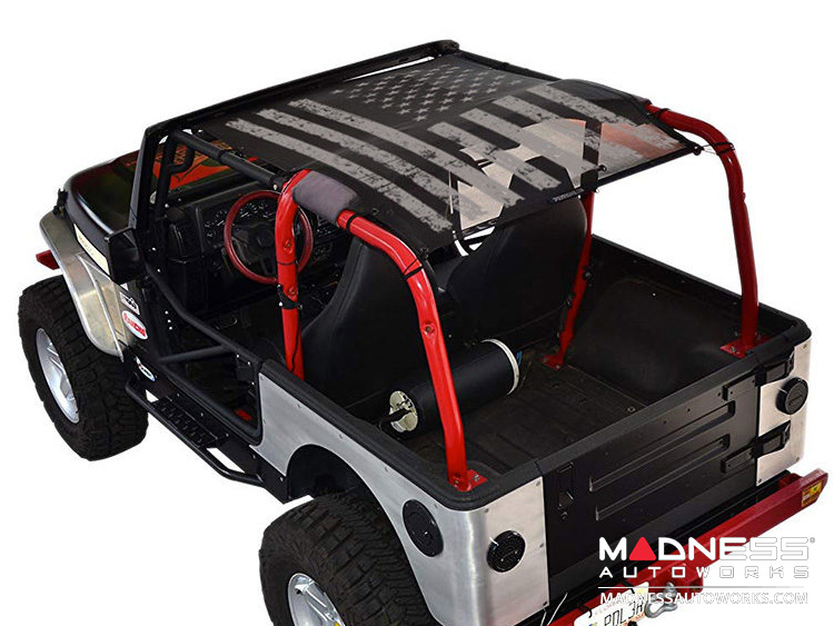 Jeep Wrangler TJ SW1 - Tactical Flag Distressed