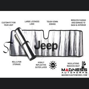 Jeep Cherokee XJ Sun Shield - Metallic