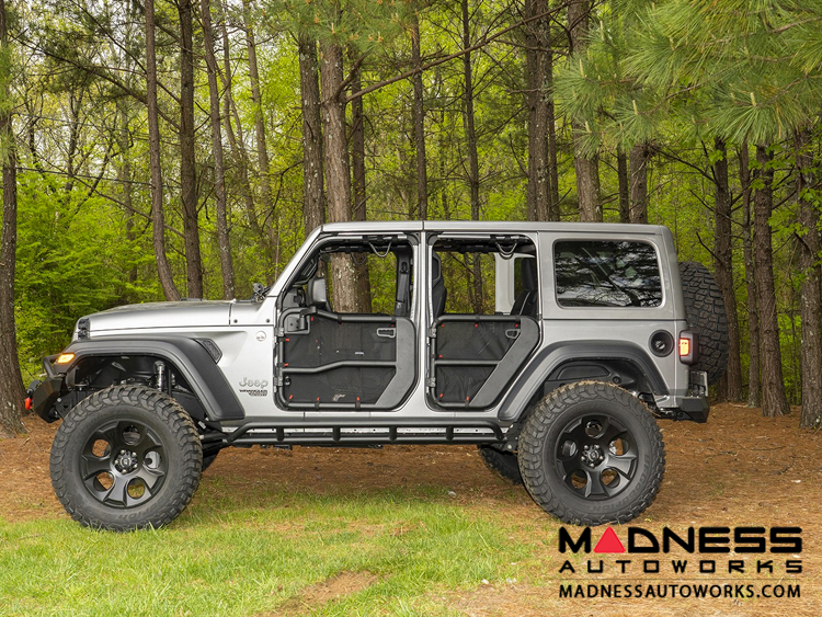 Jeep Wrangler JL Fortis Tube Door Covers - Front & Rear - Black
