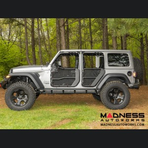 Jeep Wrangler JL Fortis Tube Door Covers - Front - Black