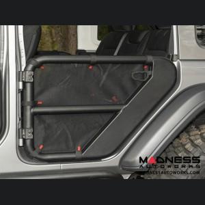 Jeep Wrangler JL Fortis Tube Door Covers - Rear - Black