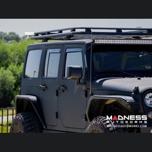 Jeep Wrangler JK Side Window Air Deflectors Front + Rear - Full Size (4pc set)