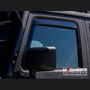 Jeep Wrangler JK Side Window Air Deflectors Front + Rear - Full Size (4pc set)