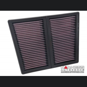 Alfa Romeo Giulia Performance Air Filter - 2.9L - K&N - Drop In - Quadrifoglio Model