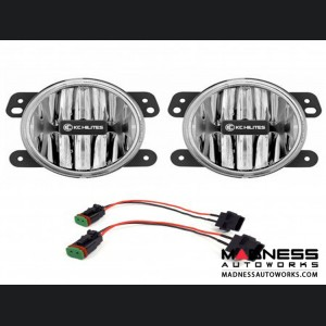 Jeep Wrangler JL Sahara Gravity LED G4 Fog Lights - Clear