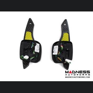 Alfa Romeo 4C Carbon Fiber Paddle Shifters - Yellow Accent