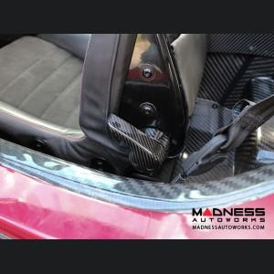 Alfa Romeo 4C Carbon Fiber Seat Adjustment Covers
