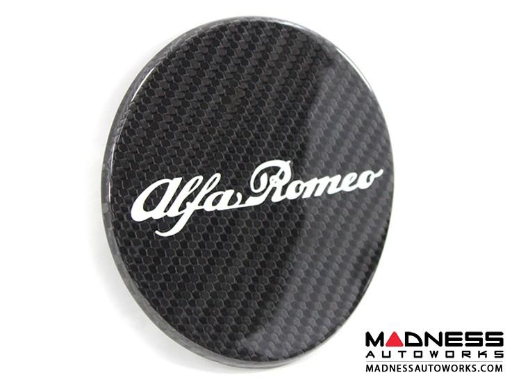 Alfa Romeo 4C Carbon Fiber Fuel Door - Alfa Romeo Logo