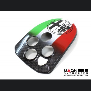 Alfa Romeo 4C Carbon Fiber Central MTA Control Cover - Italian Airbrushed