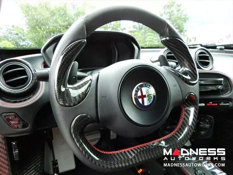 Alfa Romeo 4C Carbon Fiber Steering Wheel Side Covers Trim