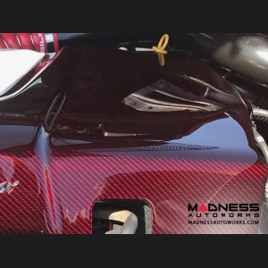 Alfa Romeo 4C Carbon Fiber Engine Cover - Red