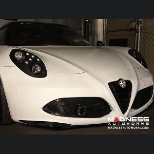 Alfa Romeo 4C Carbon Fiber Front Bumper Lip Trim Kit - Aggressive Design