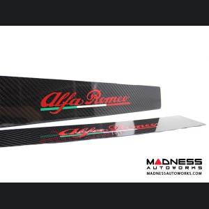 Alfa Romeo 4C Carbon Fiber Door Sills - w/ Alfa Romeo Logo