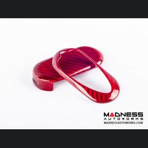 Alfa Romeo 4C Key Fob Cover - Carbon Fiber - Red