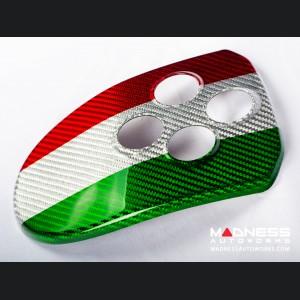 Alfa Romeo 4C Carbon Fiber Gear Selector Trim - MTA - Italian Flag