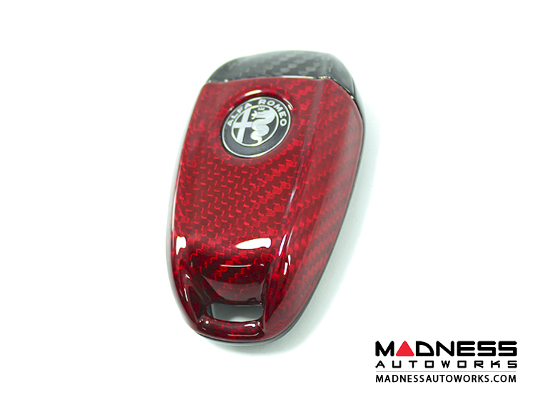 Alfa Romeo Alfa Romeo Giulia Car Key Fob Cover Carbon Fiber - Alfa romeo car cover