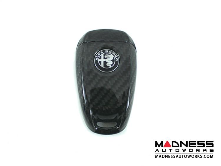 Alfa Romeo Stelvio Key Fob Cover  - Carbon Fiber - Black