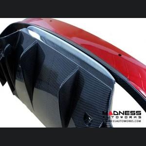 Alfa Romeo Giulia Rear Diffuser Lip - Quadrifoglio - Carbon Fiber - Blue