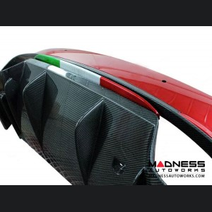 Alfa Romeo Giulia Rear Diffuser Lip - Quadrifoglio - Carbon Fiber - Italian Flag