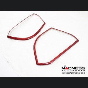 Alfa Romeo Giulia Speaker Frame Trim - Carbon Fiber - Red