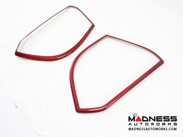 Alfa Romeo Giulia Speaker Frame Trim - Carbon Fiber - Red
