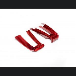 Alfa Romeo Giulia Steering Wheel Trim - QV Model - 2 piece lower trim - Carbon Fiber - Red