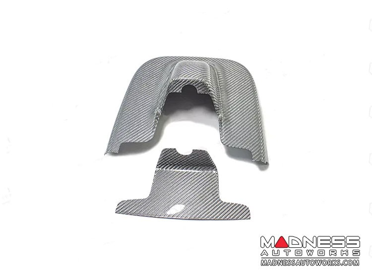 Alfa Romeo Giulia Carbon Fiber Interior Mirror Holder Frame - White Carbon Fiber