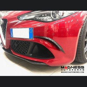 Alfa Romeo Giulia Carbon Fiber Front Bumper Trim - Quadrifoglio